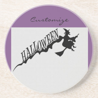 Halloween Witch Riding Broom Thunder_Cove Coaster
