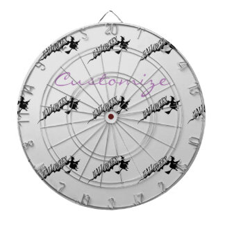 Halloween Witch Riding Broom Thunder_Cove Dartboard