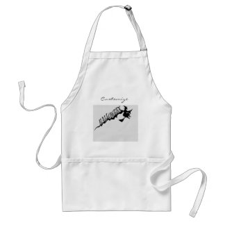 Halloween Witch Riding Broom Thunder_Cove Standard Apron