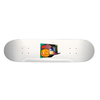 Halloween witch skateboards