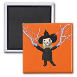 Halloween Witch Spell 2 Inch Square Magnet