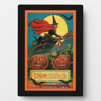 Halloween Witch Tabletop Plaque