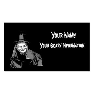 Halloween witch themed business and calling card business card template