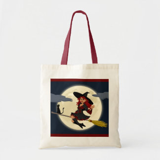 Halloween witch tote bag