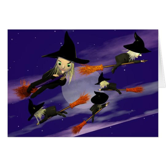 Halloween Witch Traffic Card