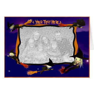Halloween Witch Traffic (photo frame) Card