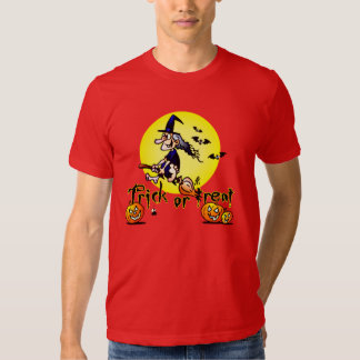 Halloween witch Trick or Treat T-shirts