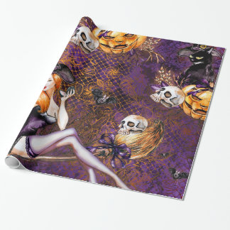 Halloween Witch Wrapping Paper