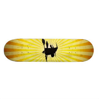 Halloween Witch yellow Skate Board Deck