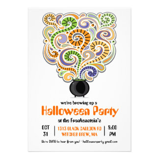 Halloween Witches Brew Party Invitation I