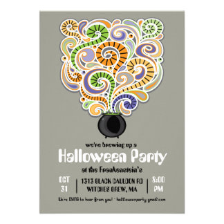 Halloween Witches Brew Party Invitation II