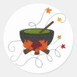 Halloween Witches Brew Round Sticker