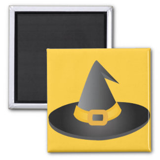 Halloween Witches Hat Square Magnet