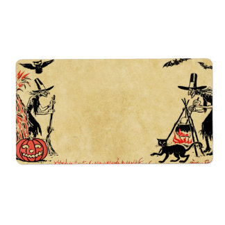 Halloween Witches Label Shipping Label