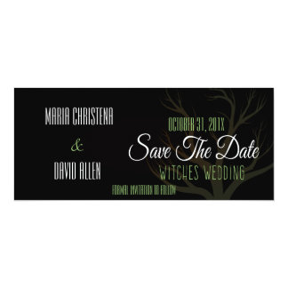Halloween Witches Wedding Save The Date 10 Cm X 24 Cm Invitation Card