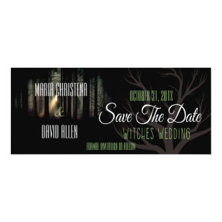 Halloween Witches Wedding Save The Date Card (2) 10 Cm X 24 Cm Invitation Card