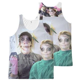 Halloween with saw All-Over print singlet