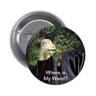 Halloween Wizard Goat 6 Cm Round Badge