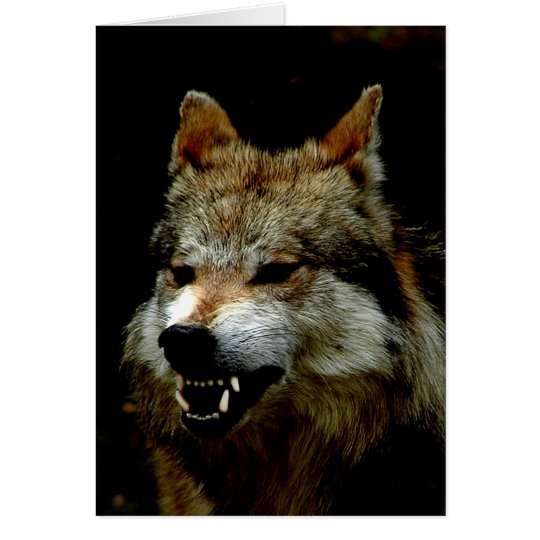 Halloween wolf card