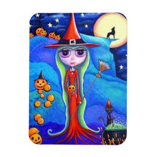Halloween Wolf Witch Black Cat Cauldron Pumpkins Magnet