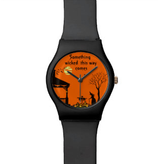 Halloween women's wrist watch, witches and J-O-L's Watch