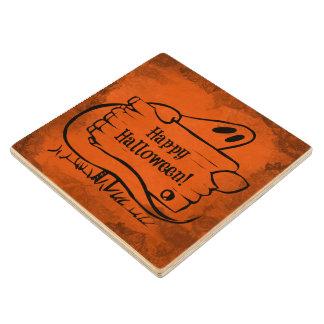 Halloween Maple Wood Coaster