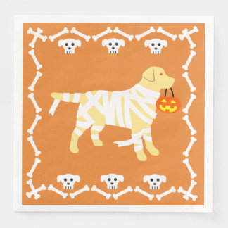 Halloween Yellow Labrador Mummy Disposable Napkin
