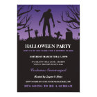 Halloween Zombie Party Spooky Graveyard Invitation