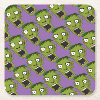 Halloween Zombie Party Supplies Square Paper Coaster