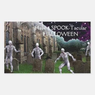 Halloween Zombies Rectangular Sticker