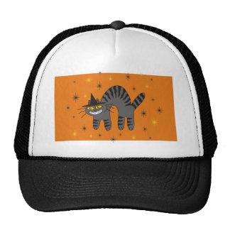 Halloweenish Magical Mr Midnight on Orange Mesh Hat