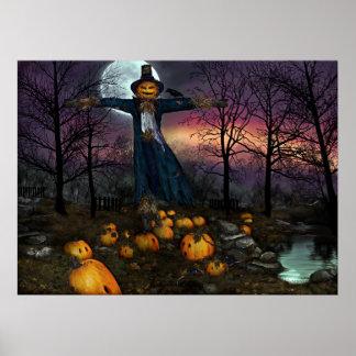 Halloweens Harvest -Scarecrow Poster