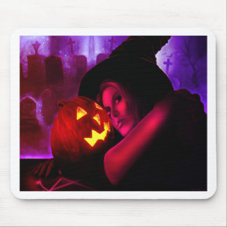 HalloweenWitch2011_print Mouse Pad