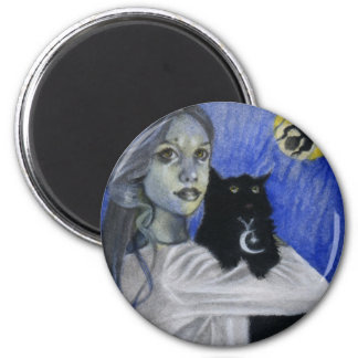 Hallow's Eve Witch Cat Magnet