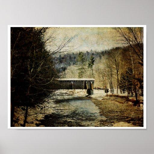 Halls Mills Covered Bridge Poster