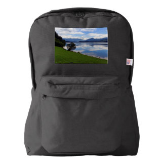 Hallstattersee lake, Alps, Austria Backpack