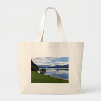 Hallstattersee lake, Alps, Austria Large Tote Bag