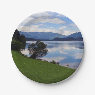 Hallstattersee lake, Alps, Austria Paper Plate