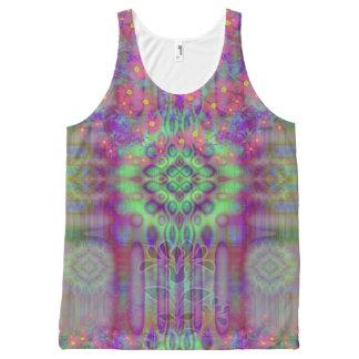 Hallucinogenic Flower Tie Dye Magic Fever Dream All-Over Print Singlet