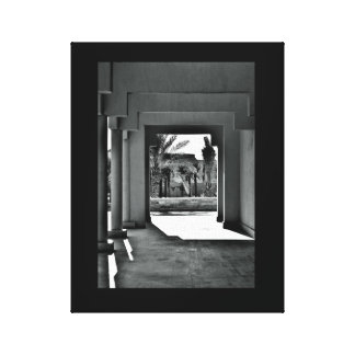 Hallway Shadows Canvas Print