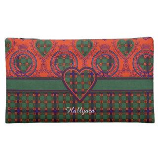 Hallyard clan Plaid Scottish kilt tartan Cosmetics Bags