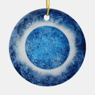 """""""Halo On Ice"""" Abstract Painting Ornament"""