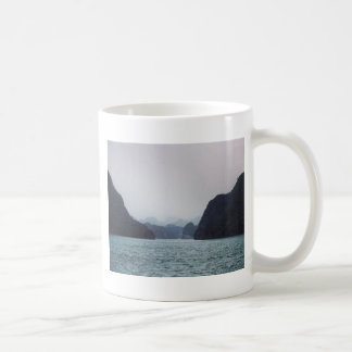 Halong Bay Soft blue, dreamy, mountains and water Coffee Mug