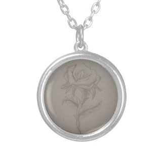 Hals tied with rose silver plated necklace