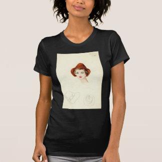 Halston Hat sketch T-shirt design