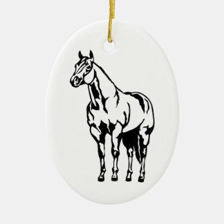 Halter American Quarter Horse Equestrian Ceramic Oval Decoration