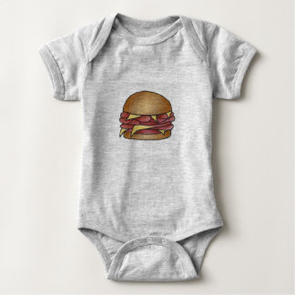 Ham and Cheese Deli Lunch Sandwich Foodie Food Baby Bodysuit