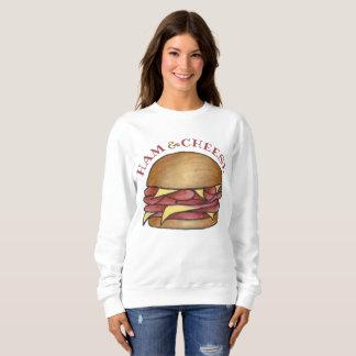 Ham and Cheese Deli Sandwich Lunch Foodie Food Sweatshirt
