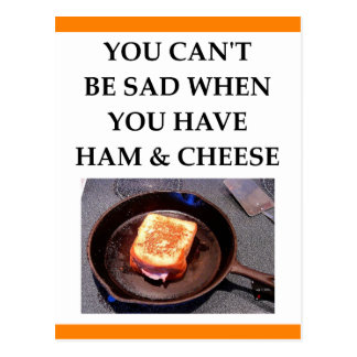 ham and cheese postcard