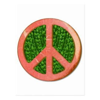 Ham And Peas Peace Symbol Postcard